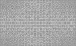 375 Grey Puzzles Pieces Jigsaw - Vektor Stockbilder