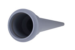 Grey PVC sewer pipe Stock Photos