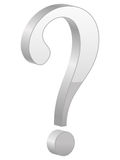 Grey question symbol Stock Photo