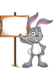 Grey Rabbit Character Image stock