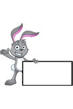 Grey Rabbit Character Photos libres de droits