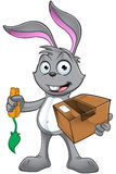 Grey Rabbit Character Photographie stock libre de droits