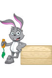 Grey Rabbit Character Stock Photography