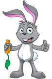 Grey Rabbit Character Royalty Free Stock Photo