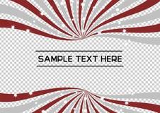 Grey Radial Swirl vermelho e de prata com fundo efervescente do vetor da estrela Imagens de Stock Royalty Free