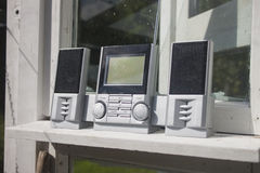 Grey Radio. At a greenhouse, in Finland Royalty Free Stock Photo