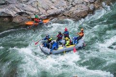 Grey raft team Stock Image