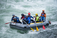 Grey raft team Stock Photo