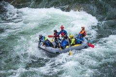 Grey raft team Stock Images