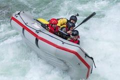 Grey raft team Stock Photos