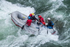 Grey raft team Royalty Free Stock Photos