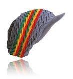 Grey with Rasta stripes Peak Hat Stock Photos