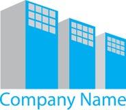 Grey Real Estate Logo House bleu Image stock
