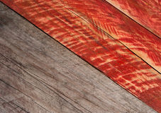 Grey and red grungy wood background. Texture Stock Photo
