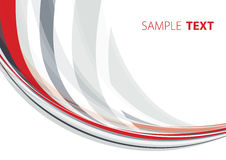 Grey and red shape Stock Photography