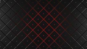 Grey and red squares modern background illustration. 3d render royalty free illustration