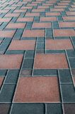 Grey and Red stone brick floor texture and background Royalty Free Stock Image