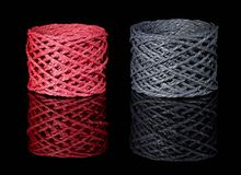 Grey and red twine Royalty Free Stock Image