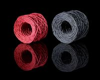Grey and red twine Stock Image
