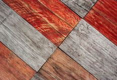 Grey and red wood planks background Stock Images