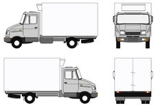 Grey refrigerator lorry Royalty Free Stock Images