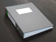 Grey Ring Binder With Blank Label scuro Fotografia Stock Libera da Diritti