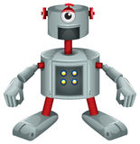 A grey robot Stock Photo