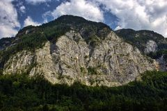 Grey Rock Cliff on Mountain during Daytime Royalty Free Stock Photo
