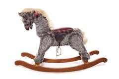 Grey rocking horse Royalty Free Stock Photography