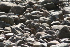 Grey Rocks. Rocks around an old mine in Quebec, Canada Royalty Free Stock Photography