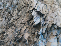 Grey rocks, blue color - abstract background - stone texture Stock Photos