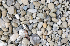 Grey rocks pebbles texture natural pattern gravel Royalty Free Stock Image
