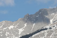 Grey Rocky Mountains, Canada Royalty Free Stock Photos