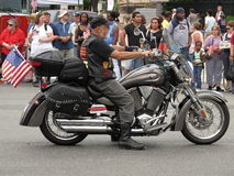 Grey Rolling Thunder Motorcycle Stock Image