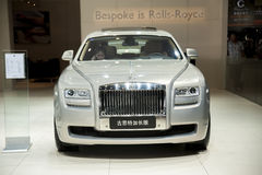 Grey rolls-royce gusteau extended edition car Royalty Free Stock Photography