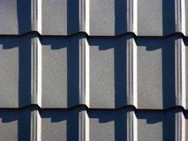 Grey roofing from metal plate Royalty Free Stock Photo
