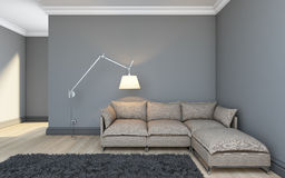 Grey Room Royalty Free Stock Photography