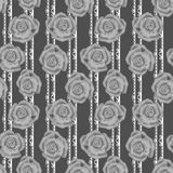 Grey roses seamless pattern Stock Images