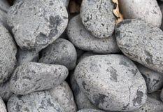 The grey round stones texture macro shot Royalty Free Stock Photo