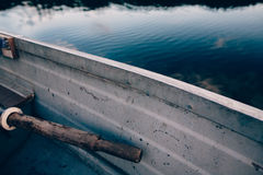 Grey Row Boat on Blue Body of Water during Daytime Royalty Free Stock Photography
