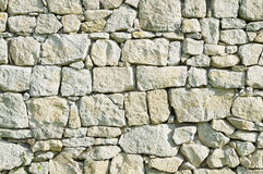 Grey rubble wall Stock Image