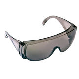 Grey safety glasses isolated on the white background Royalty Free Stock Photo