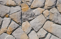 Grey sandstone wall Stock Image