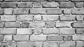 Grey scale  Brick wall background Royalty Free Stock Photography