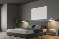 Grey Scandinavian-slaapkamerhoek, affiche Royalty-vrije Illustratie