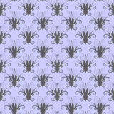 Grey seamless floral pattern (vector) Royalty Free Stock Photos
