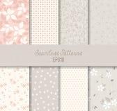 Grey Seamless Patterns cor-de-rosa Imagens de Stock