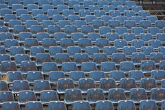 Grey seats in a stadium Stock Photos