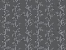 grey senza cuciture del fondo dei tulipani Fotografia Stock Libera da Diritti