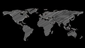 Grey shape of world map stock footage illustration of worldwide grey shape of world map gumiabroncs Images